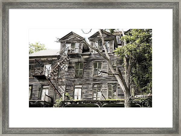 French Doors And Fire Escapes Framed Print