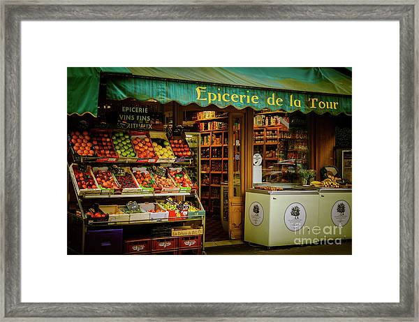 French Groceries Framed Print
