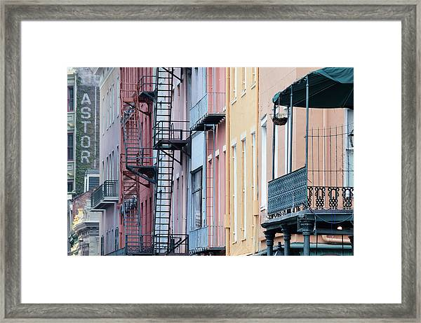 French Quarter Colors Framed Print