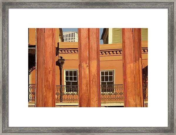 French Quarter Reflection Framed Print
