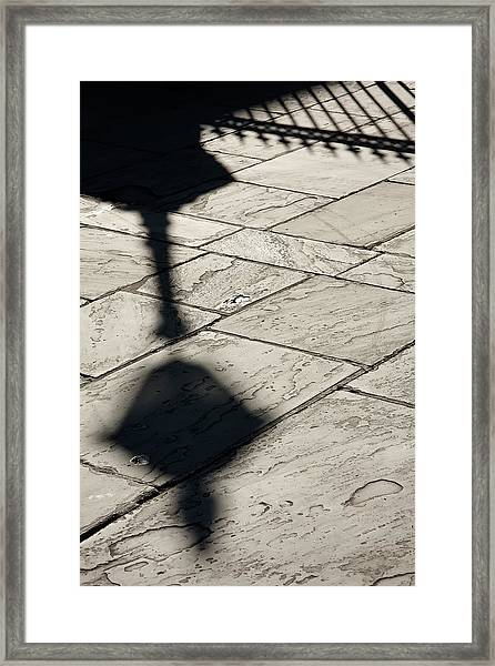 French Quarter Shadow Framed Print