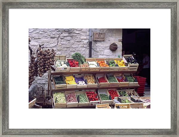 French Vegetable Stand Framed Print