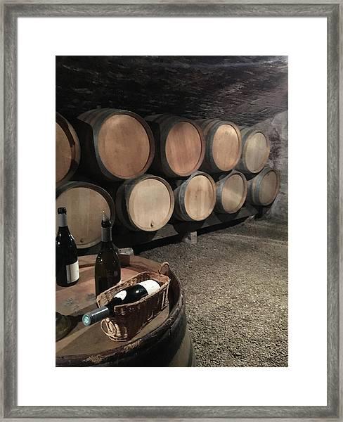 French Wine Cellar Framed Print