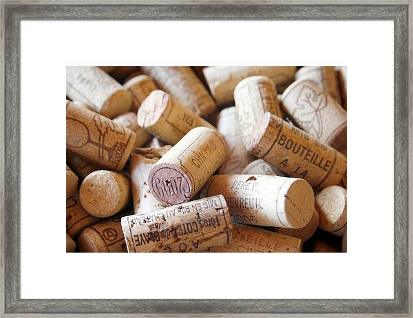 French Wine Corks Framed Print