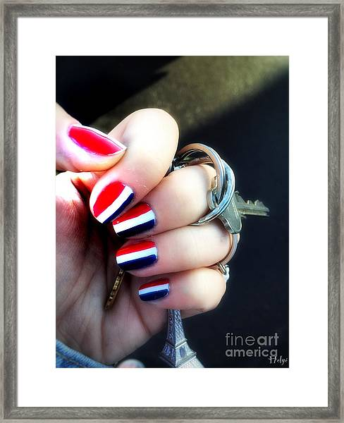 Frenchy Nails Framed Print