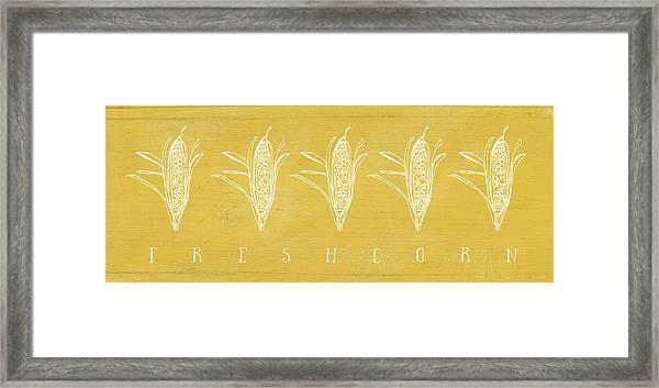 Fresh Corn- Art By Linda Woods Framed Print