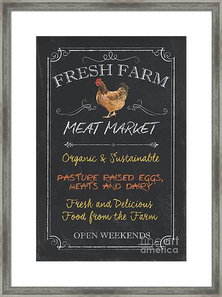 Fresh Farm Meat Framed Print