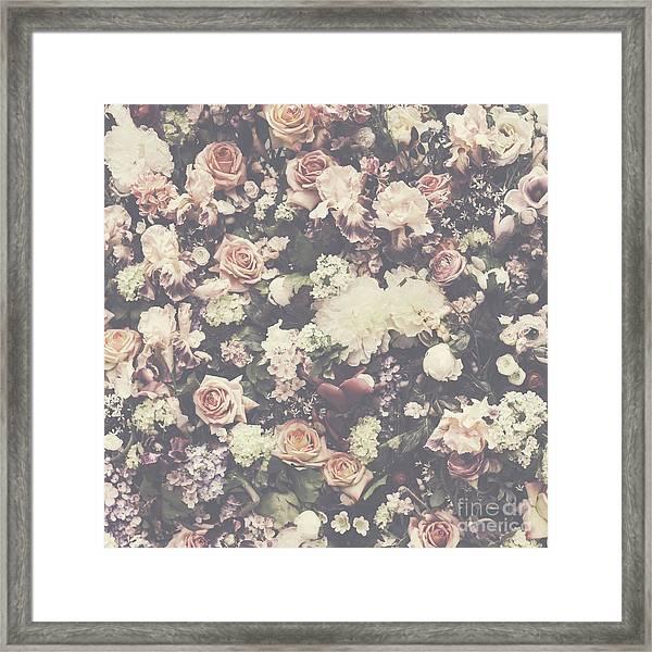 Fresh Flower Pattern Background Framed Print