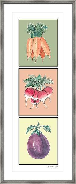 Fresh From The Garden Framed Print
