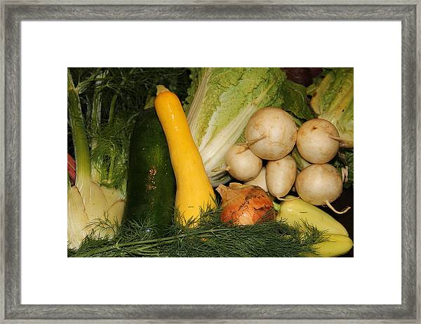 Fresh Garden Produce Framed Print