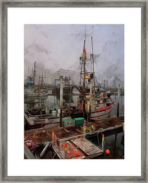 Fresh Live Crab Framed Print