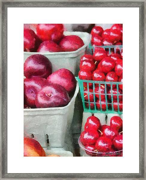 Fresh Market Fruit Framed Print