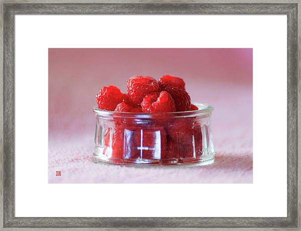 Fresh Raspberries Framed Print