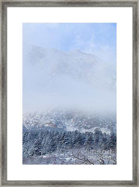 Fresh Snow In Cheyenne Mountain State Park Framed Print
