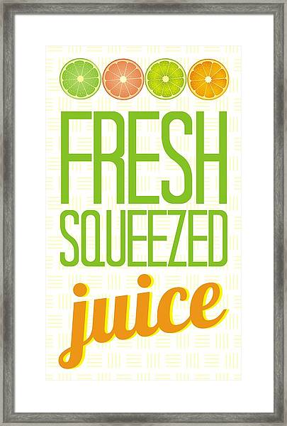 Fresh Squeezed  Juice Framed Print