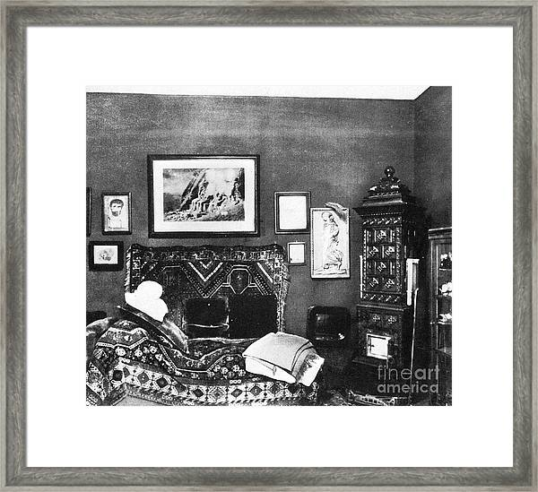 Freuds Consulting Room Framed Print