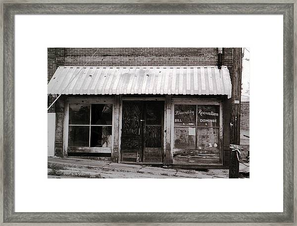 Friendly Recreation- Utica Mississippi Framed Print