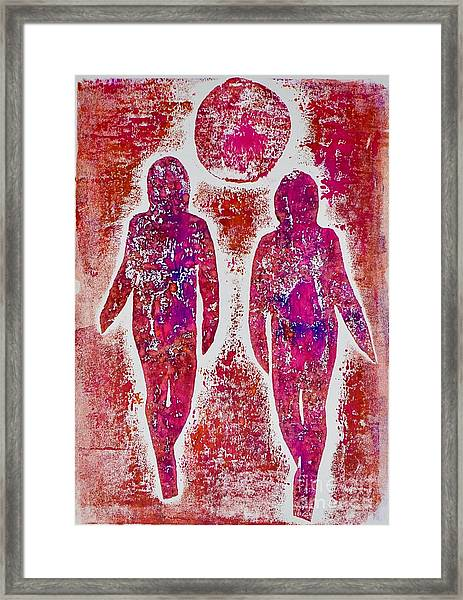 Friends In Pink  Framed Print