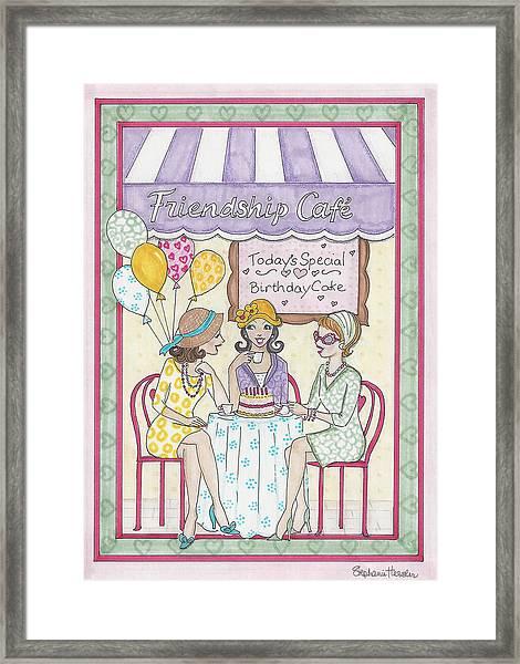 Friendship Cafe Framed Print