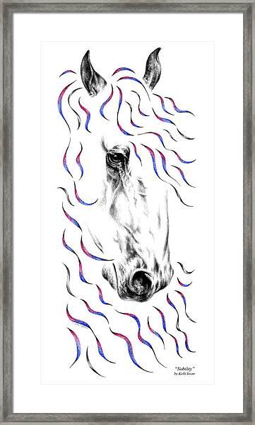 Friesian Horse Nobility Framed Print