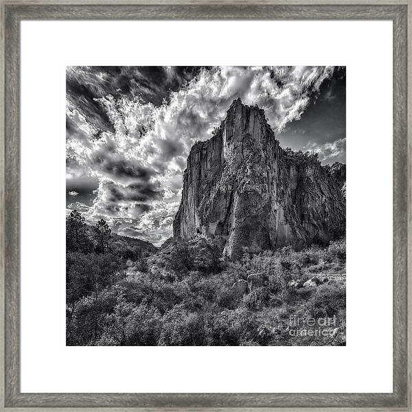 Frijoles Canyon Framed Print