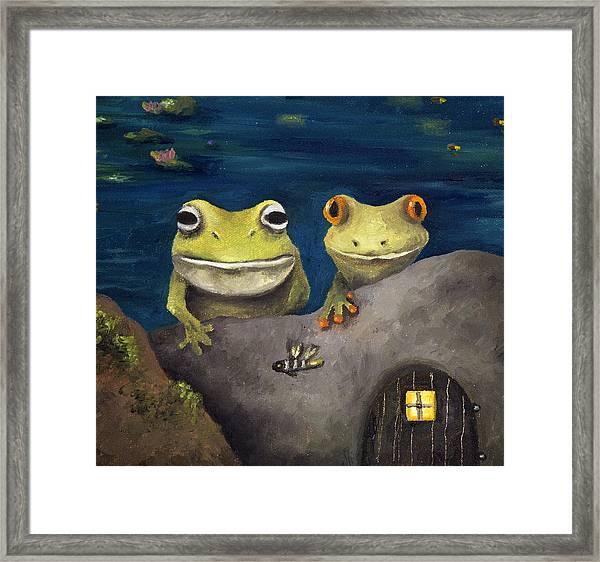 Frogland Detail Framed Print