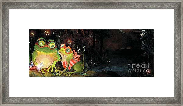 Frogs At Silver Lake Framed Print