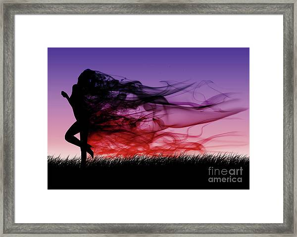 Frolicking Through The Meadow Framed Print