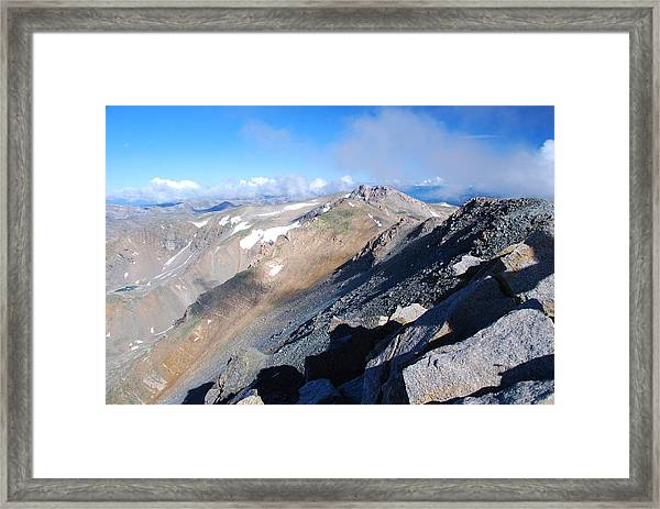 From Atop Mount Massive Framed Print