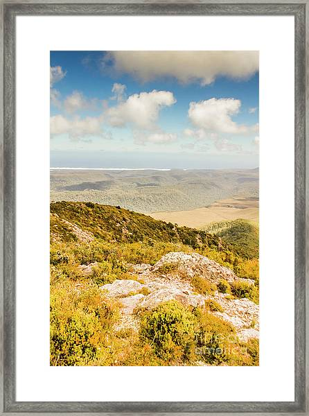 From Mountains To Seas Framed Print