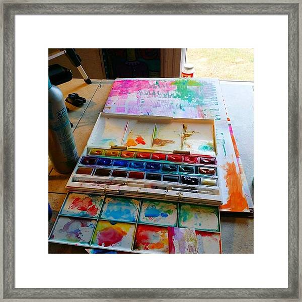 From #palette  To #paper ..adding Some Framed Print
