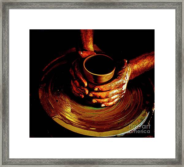 From The Hands Of An Artist Framed Print by Steven Digman