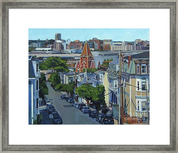 From The Heights To Boston Framed Print