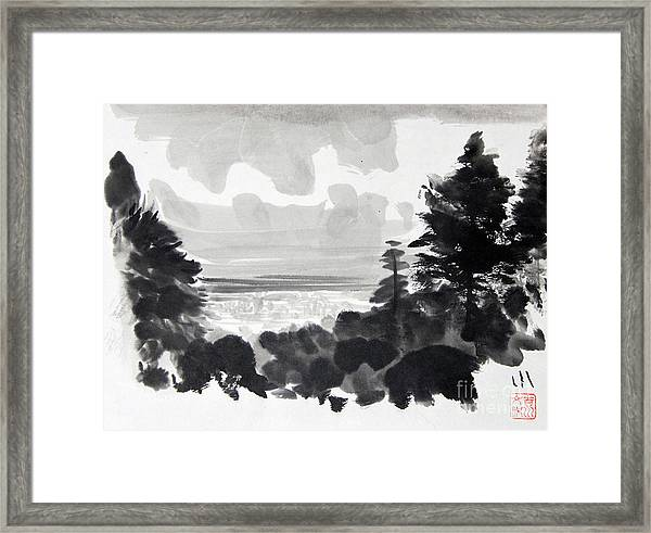 From The Hill Framed Print