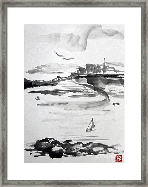 From The Marina Framed Print