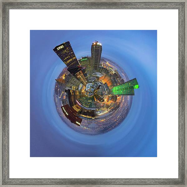 From The Top Of Ppg Little Planet  Framed Print