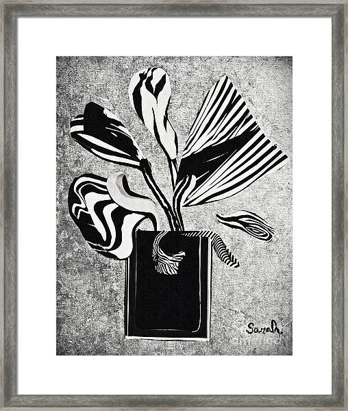 From The Zebras Garden Framed Print