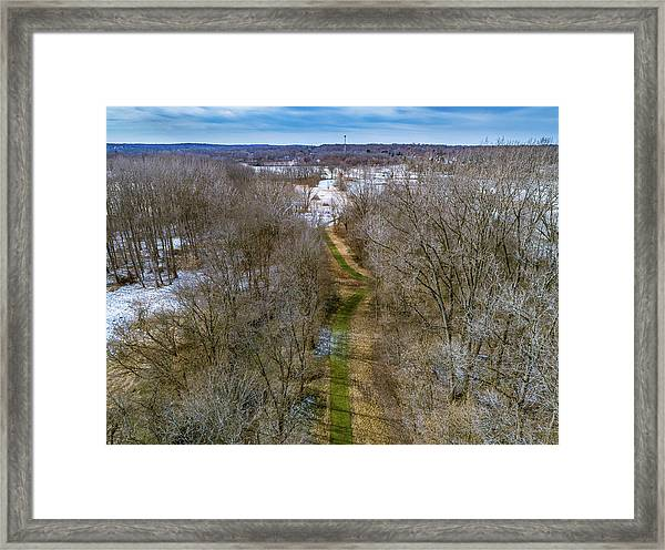 From Woods To Snow Framed Print