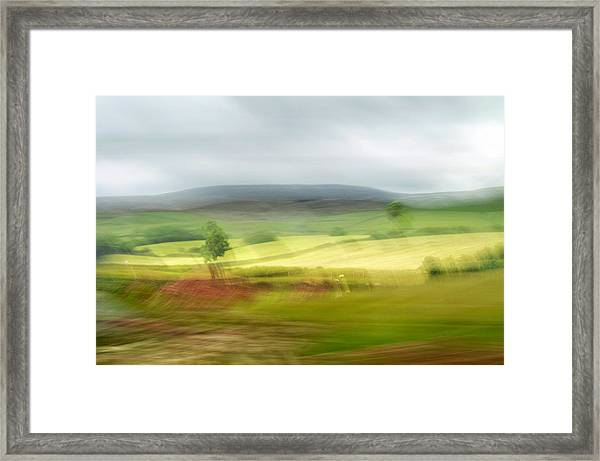 heading north of Yorkshire to Lake District - UK 1 Framed Print