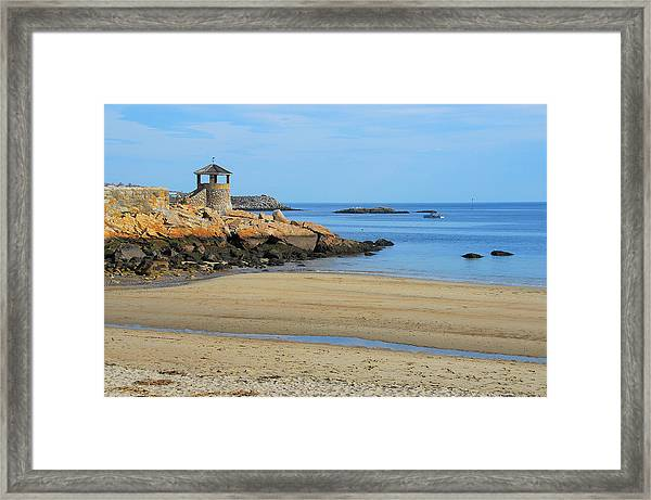 Front Beach Low Tide Framed Print