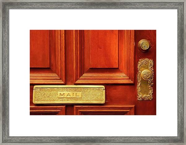 Front Door French Quarter Framed Print