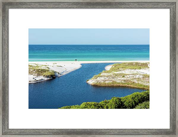 Front Row Seat On The Beach Framed Print