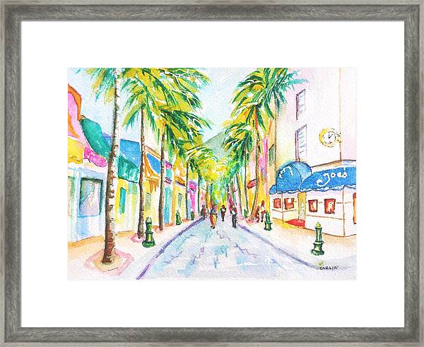 Front Street Philipsburg St. Maarten  Framed Print