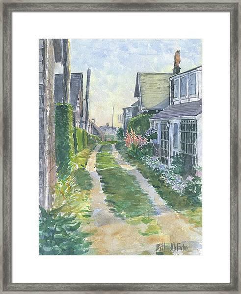 Front Street Siasconset Nantucket Framed Print