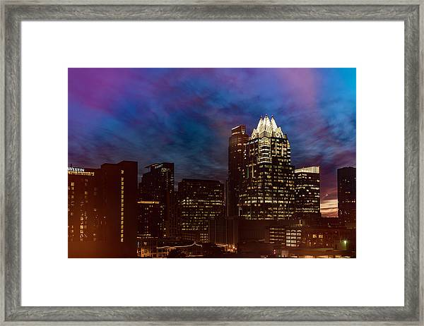 Frost Tower Framed Print