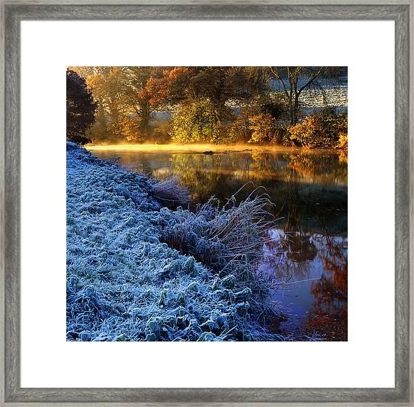 Frosty Autumnal Tamar River Framed Print