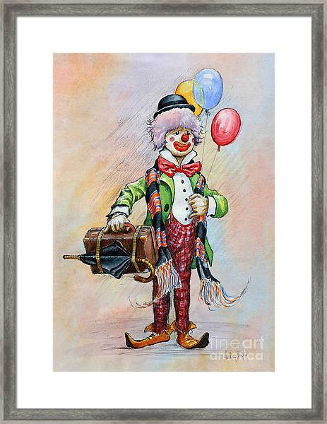 Frosty The Clown Framed Print