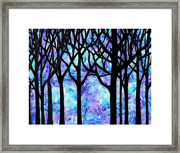 Frozen Forest Framed Print