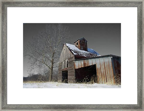 Framed Print featuring the photograph Frozen Letcher by Dylan Punke