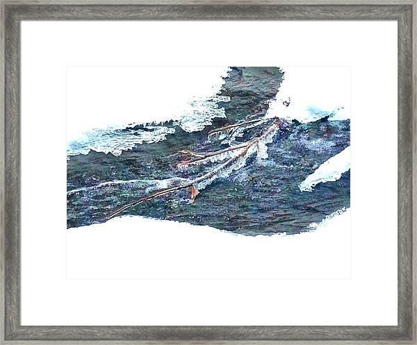 Frozen Stream  Framed Print